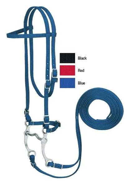 Weaver Nylon Browband Bridle with Single Cheek Buckle
