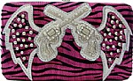 Shiny Zebra Print Hard Case Wallet