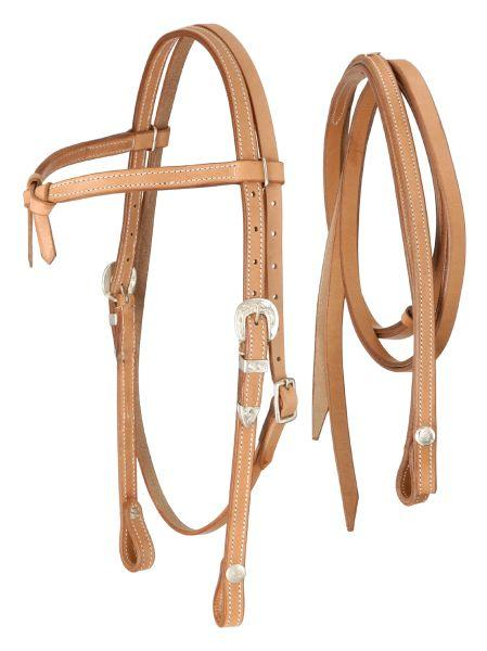 Royal King Futurity Browband with Silver Buckle Headstall