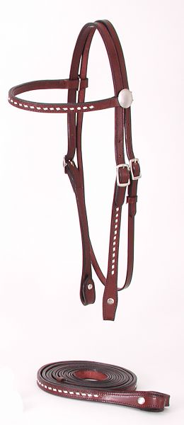 Royal King Buckstitched Browband Headstall