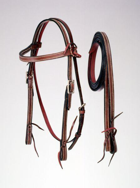 Royal King Frontier Pony Browband Headstall with Reins