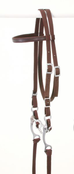 King Series Pony Nylon Browband Bridle