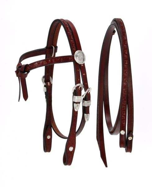King Series Miniature Futurity Brow Headstall with Silver