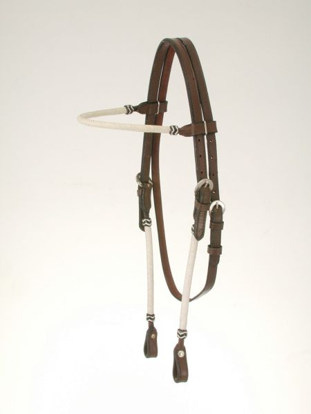 King Series Rawhide Braided Browband Headstall