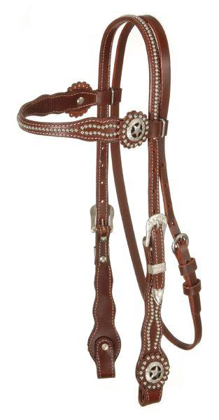 Royal King Scalloped Browband Texas Concho Headstall