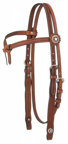 Royal King Square Basketweave Futurity Brow Headstall
