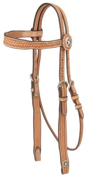 Royal King Square Basketweave Browband Headstall