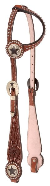 Royal King Single Ear Filigree Headstall With Quarters Hardware