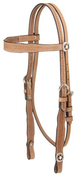 Royal King Basket Stamp Square Cheek Browband Headstall