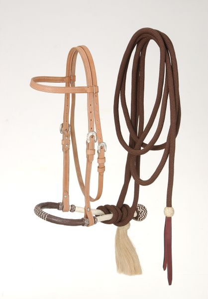 Royal King Brow band Headstall Bosal/Cotton Cord Mecate Set