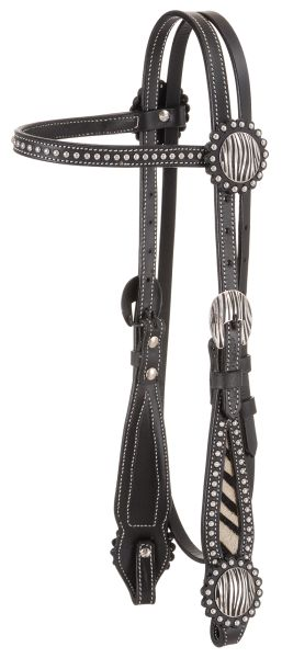 Tough-1 Browband Headstall with Hair