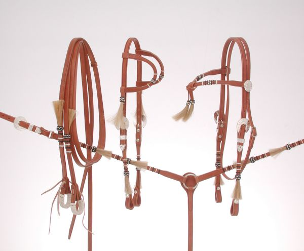 Royal King Rawhide Braided Double Ear Headstall