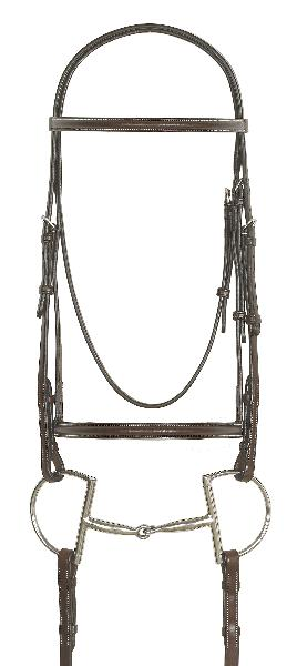 Ovation Plain Raised Bridle with Laced Reins