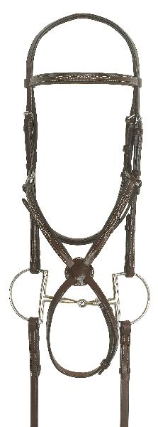 Ovation Jumper Bridle with Rubber Reins