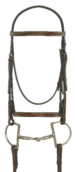 CamelotGold Plain Raised Bridle with Laced Reins