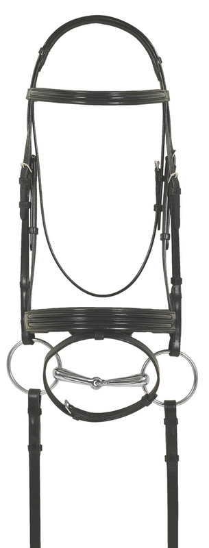 Ovation Europa Euro Dressage Patent Bridle with Crank and Flash