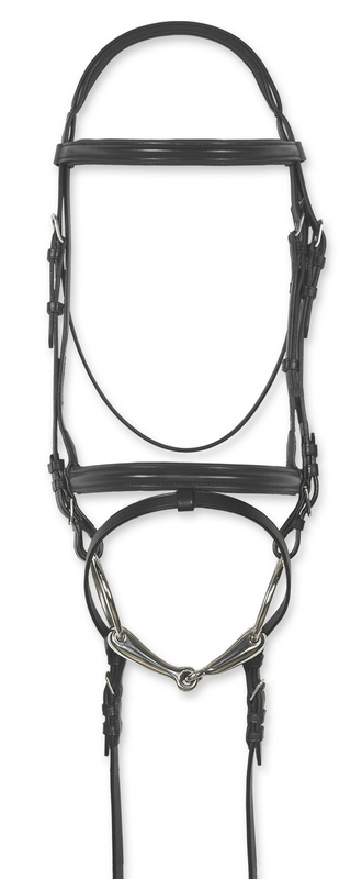 Ovation Europa Classic Padded Dressage Bridle with Flash