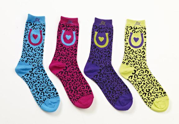 Ovation Ladies Cheetah Mid Calf Sock