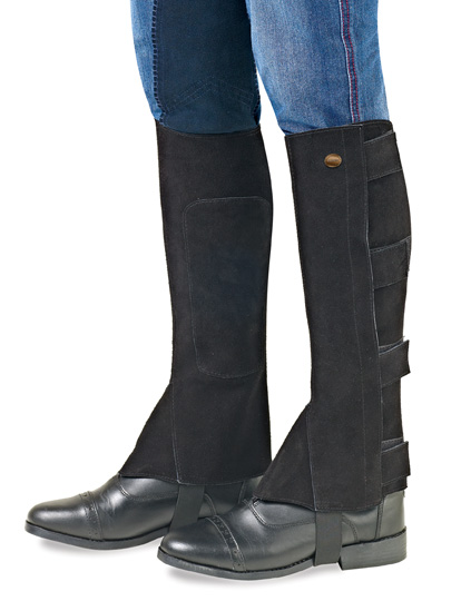 OPEN BOX ITEM: EquiStar Ladies Suede V-Tab Half Chaps