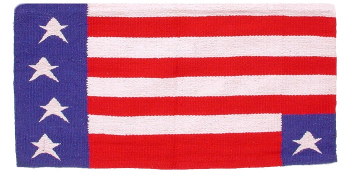 Patriotic American Flag Western Saddle Blanke