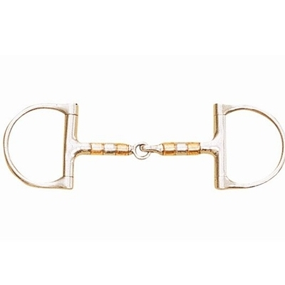 Metalab Roller Mouth Dee Ring Snaffle Bit