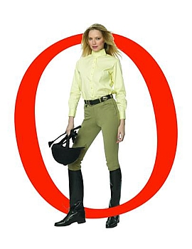 Ovation Euroweave Ladies Side-Zip Breech