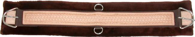 Sedona Hand-Tool Leather Overlay Cinch