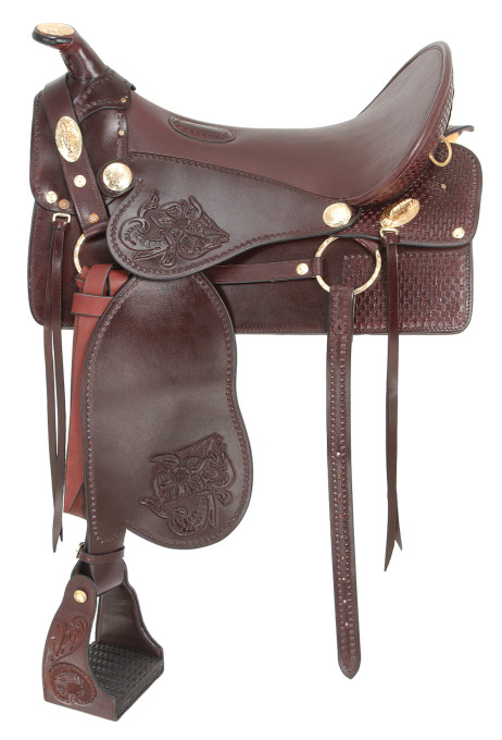 King Series Tooled McClellan Camp Saddle
