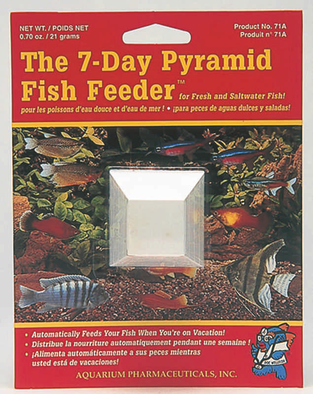 Great Pyramid 7 Day Feeder 1 Card Feeds 15-20 Fish