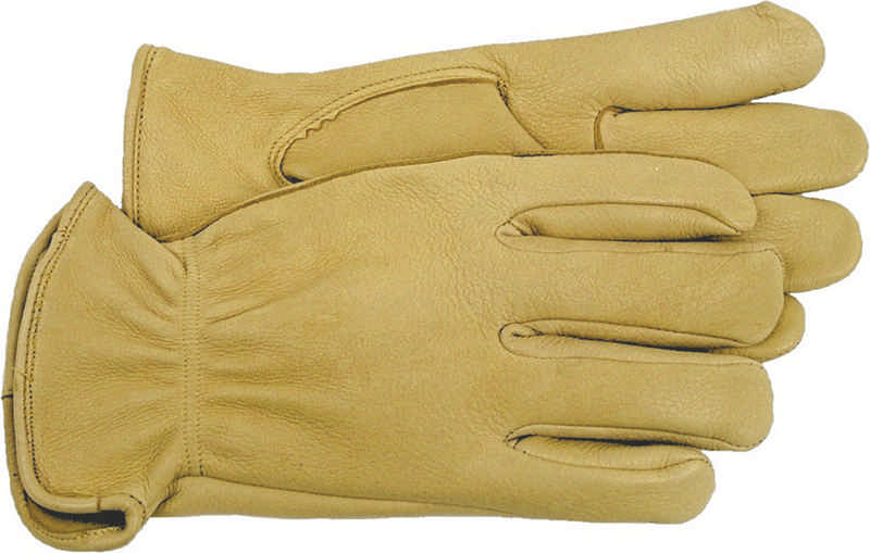 6 Pair - Unlined Deerskin Gardening Work Gloves