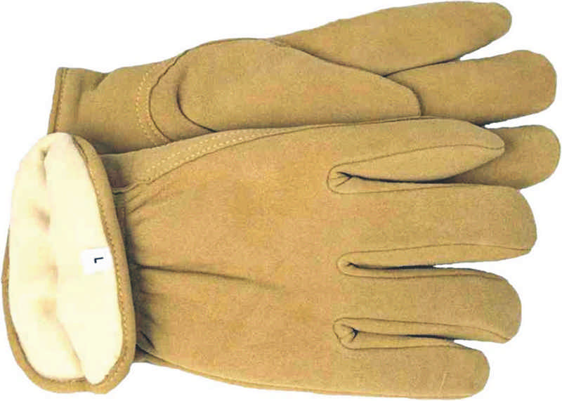 Lined Leather Deerskin Work Gloves