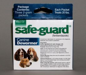SafeGuard Canine Dewormer - Blue - Treats 20lbs