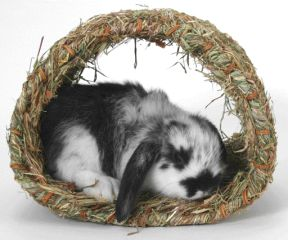 Edible Woven Grass Hut Mat For Rabbits/Small Animals
