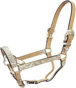 Cowboy Pro Leather Show Halter With Silver