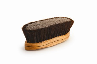 Legends Horsehair Dual-Fiber Curved-Back Grooming Brush