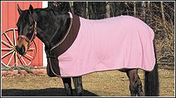 TuffRider Fleece Color Block Pony Dress Sheet