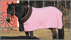 TuffRider Fleece Color Block Pony Dress Sheet