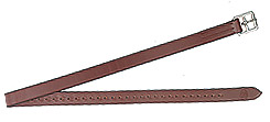 Henri de Rivel Prestretched Half Hole Stirrup Leather