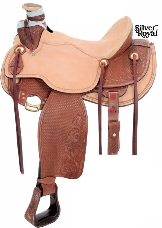 Silver Royal Wade Hard Seat Working Saddle