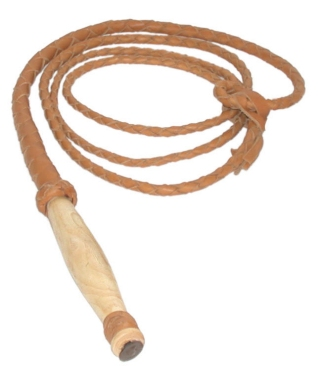 Swivel Handle Hand Braided Bull Whip