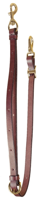 TORY LEATHER English Bridle Leather Tie Down - Tongue Buckle