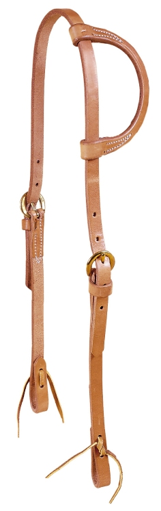 TORY LEATHER One Ear Single Ply Training Headstall - Snap Bit Ends