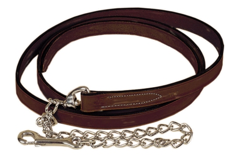 "TORY LEATHER 1"" Single Ply Lead - Nickel Plated Chain"