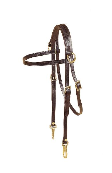 TORY LEATHER Side Check Headstall with Snap Ends