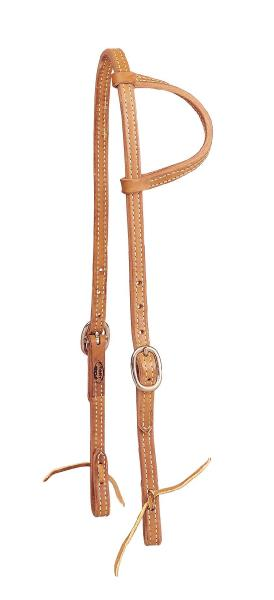 TORY LEATHER One Ear Headstall - Tie Ends