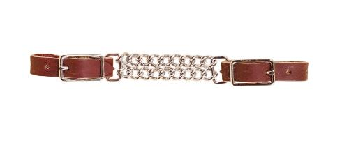 TORY LEATHER Double Chain Curb