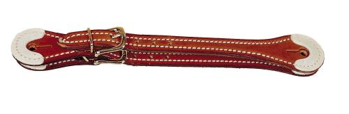 TORY LEATHER Rawhide Overlay Spur Strap