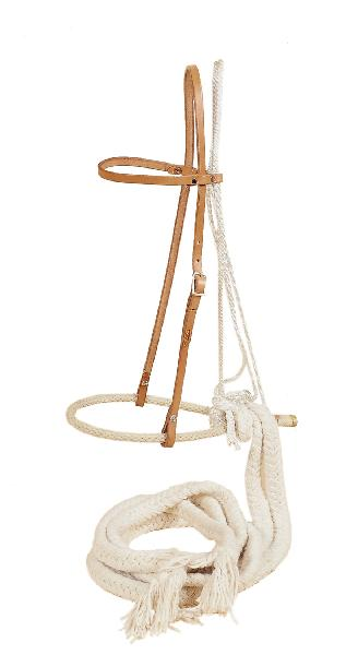 "TORY LEATHER 1/2"" Bosal - Heastall & Cotton Beraking Reins"