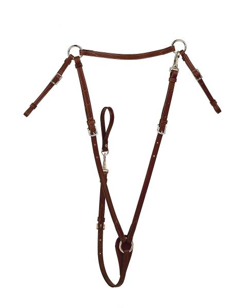 "TORY LEATHER 5/8"" Bridle Leather Flat Hunt Breastplate"