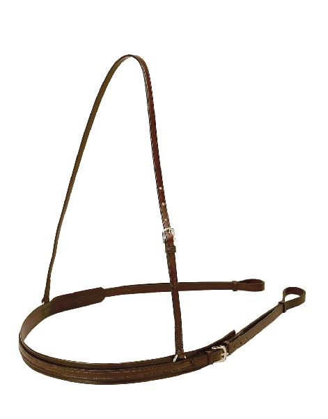 TORY LEATHER Bridle Leather Polo Style Breast Strap